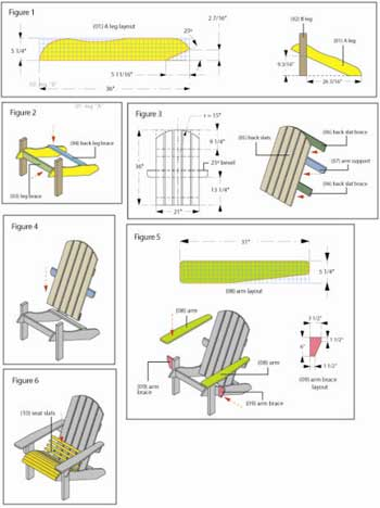 adirondack chair plan templates