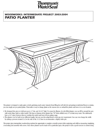 Patio Planter Plan