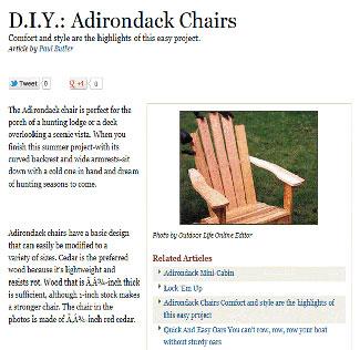 build adirondack chairs free