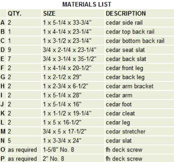 Free diy adirondack chair plans build adirondak chair plans List of materials to build a house